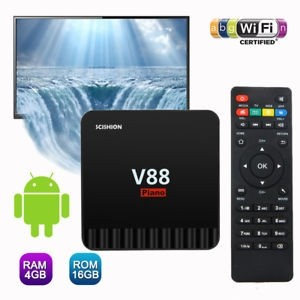Android Smart TV Box V88 Piano Quad Core 4GB RAM +16GB ROM