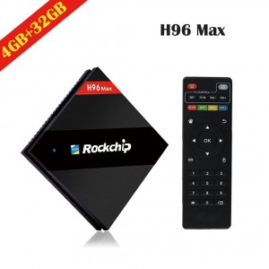 ANDRIOD TV BOX H96 MAX 4GB RAM +32GB ROM 4K OCTA CORE