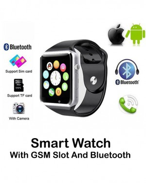 Smart Watch W08 With GSM Slot And Bluetooth Connectivity For IOS And Android Smart Phones